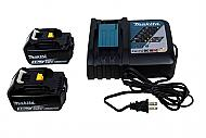 Makita BL1830BX2 3.0Ah Batteries With Battery Gauge and OEM DC18RC Charger NEW