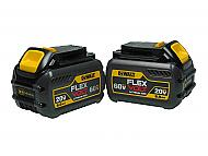 Dewalt DCB606 MAX Flexvolt 20V-120V 6 Ah Lithium-Ion Battery Two Pack