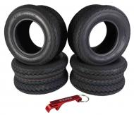 Kenda 235Q2076 20x10-10 Hole-N-1 6 Ply Tubeless Golf Cart Turf Tires 4 Pack