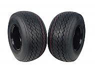 MASSFX Wheel Tire Combo 18x8.5-8 Golf Cart Tire Black 4/4 Rim 2 PACK