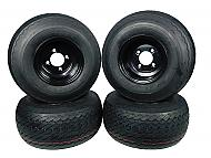 MASSFX Wheel Tire Combo 18x8.5-8 Golf Cart Tire Black 4/4 Rim 4-PACK
