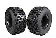 "MASSFX 20"" Rear Tire with Black 9"" Rear Rim 20x10-9 Tire 9x8 4/115 Wheel 2 PACK"