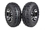 "MASSFX 21"" Tire & Machined 10"" Front Rim 21x7-10 Tire10x5 4/144 Wheel 2 PACK"