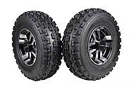"MASSFX 22"" Tire & Machined 10"" Front Rim 22x7-10 Tire 10x5 4/156 Wheel 2 PACK"