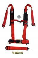 """Pro Armor A115220RD Red 5 Point 2"""" UTV Harness with Sewn in Pads"""