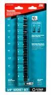 "Makita E-01672 Impact XPS 10 Pc. 3/8"" Drive 6-Point SAE Impact Socket Set w/ Standard Socket..."