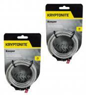 Kryptonite 4' Keeper 712 Combo Cable Silver Silver 004929 2-Pack Four Foot Cable
