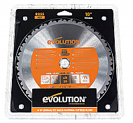 Evolution Power Tools RAGE255BLADE Saw Blade 10 in. Multipurpose Carbide Dry Cut