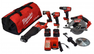 Milwaukee 2997-25 M18 FUEL 18-Volt Lithium-Ion Brushless Cordless Combo Kit (5-Tool) W/ (2) 5.0 A...