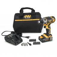 "Motorhead Ultra 20V 1/4"" Impact Driver Kit w/ 2Ah Battery, Charger, & Bag"