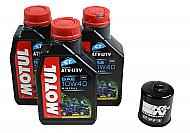 Motul 105878 10W-40 3 Liters Complete Engine Oil Change Kit w/ KN-303 KN Filter
