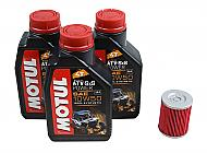 Motul-105900-10W-50-3-Liters-Complete-Engine-Oil-Change-Kit-with-KN-Oil-Filter-image-1