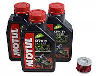 Motul-105938-10W-40-3-Liters-SynBlend-Engine-Oil-Change-Kit-KN-113-KN-Filter-image-1