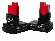 Milwaukee 48-11-2440 M12 4.0 Ah MAX Lithium Ion Battery Pack Two Pack