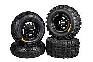 Ambush 21x7-10 20x10-9 Tires w MASSFX Gunmetal Rims 10x5 4/144 9x8 4/110 Wheels