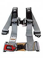 Pro Armor A114230SV 4 Point 3inch Harness with Sewn in Pads - Silver