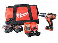 """Milwaukee 2606-20 1/2"""" Drill Driver Kit 3 Ah Battery Pack Charger Bag"""