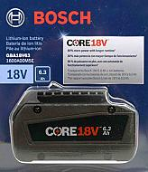 Bosch GBA18V63 CORE18-Volts 6.3 Ah Lithium-Ion Battery
