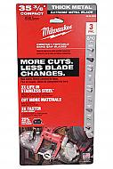 Milwaukee 48-39-0609 35-3/8inch 8-10 Tpi Extreme Thick Metal Compact
