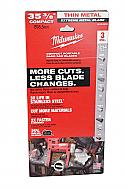 "Milwaukee 35-3/8"" Bandsaw Blades Extreme Thin Metal Compact 12/14 TPI (3 Pack) 48-39-0619"