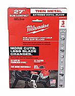 "Milwaukee 48-39-0711 27"" 18-Tpi Extreme Thin Metal Bandsaw Blades 3"