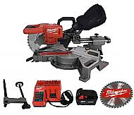 Milwaukee 2733-21 18-volt 7-1/4-inch M18 Dual Bevel Sliding Miter Saw Kit