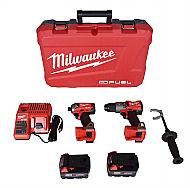 Milwaukee 2999-22 M18 FUEL 18-Volt Lithium-Ion Brushless Cordless Surge Impact and Hammer Drill C...