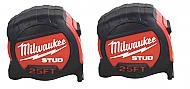 Milwaukee 48-22-9925G -STUD- 2-PK- 25' Tape Measure