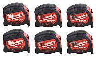 Milwaukee Elec Tool 48-22-9925 25' Stud Tape Measure - Quantity 6