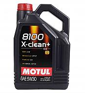 Motul 106377 8100 X-Clean Plus 5W30 Motor Oil 5W-30 - 5 Liters  - 1 Pack