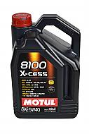 Motul 102870 8100 5 Liter 5W-40 X-Cess Engine Oil 100% Synthetic