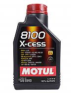 Motul 102784 8100 X-Cess 100% Synthetic 5W40 Oil 5W-40 - 1Liter - 1 Pack