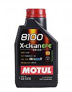 Motul 8100 X-Clean EFE 100% Synthetic SAE 5W30 Motor Oil 5W-30 1 Liter - 1 pack