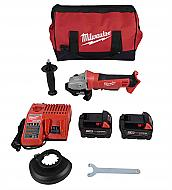 Milwaukee 2680-22 M18 18V Cordless Lithium-Ion 4-1/2 in. Cut-Off/Grinder Kit