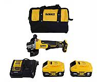 "DEWALT DCG413R2 20V MAX XR 4.5"" Brushless Paddle Switch Small Angle Grinder Kit with Kickbac..."
