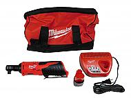 "Milwaukee 3/8"" Ratchet Kit 2457-21 12V Cordless Includes Battery Charger Kit"