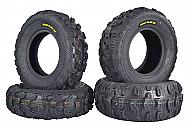 Kenda Bear Claw EX 25x8-12 F 25x10-12 R ATV 6 PLY Tires Bearclaw - 4 Pack Set