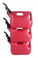 Fuelworx Red 2.5 Gallon Stackable Fast Pour Gas Fuel Cans CARB Compliant Made in The USA (2.5 Gal...