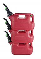 Fuelworx Red 1.5 Gallon Stackable Fast Pour Gas Fuel Cans CARB Compliant Made in The USA (1.5 Gal...
