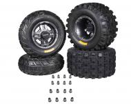Ambush 21x7-10 20x11-9 Tires w MASSFX Gunmetal Rims 10x5 4/156 9x8 4/115 Wheels