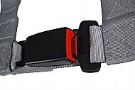 Pro Armor A16UH348SV A16UH349SV Auto Style 4 Point Harness 2 Seat Belt Silver Driver Passenger Side