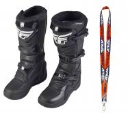 Fly Racing Maverik MX Boots 2020 Adult Black Size 8