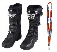 Fly Racing Maverik MX Boots 2020 Adult Black Size 9