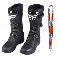 Fly Racing Maverik MX Boots 2020 Adult Black Size 14