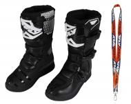 Fly Racing Maverik MX Boots 2020 Youth Black Size 6