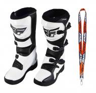 Fly Racing Maverik MX Boots 2020 Adult White/Black Size 7