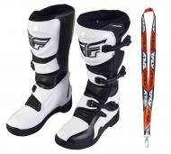 Fly Racing Maverik MX Boots 2020 Adult White/Black Size 8