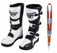 Fly Racing Maverik MX Boots 2020 Adult White/Black Size 9