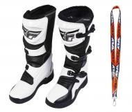 Fly Racing Maverik MX Boots 2020 Adult White/Black Size 10