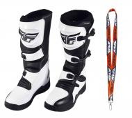 Fly Racing Maverik MX Boots 2020 Adult White/Black Size 11
